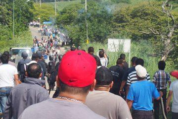 Enfrentamiento entre transportistas y habitantes de Ocosingo y Palenque.