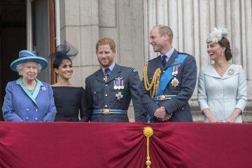 Meghan Markle y el Príncipe Harry regresan con la familia real y la Reina Isabel celebra