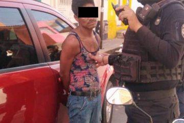 Policías detienen a conocido ladrón en el centro de Tuxtla