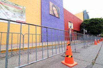 Instalan filtros sanitarios en la parroquia de Guadalupe