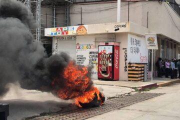CNTE se manifiesta por segundo día consecutivo en Tuxtla