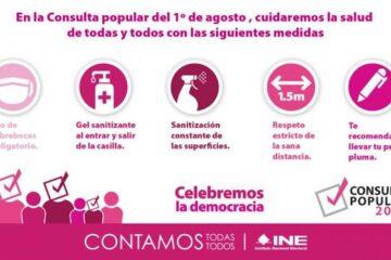 Todo listo para que este 1º de agosto se realice la Consulta Popular en Chiapas: INE