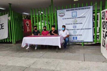 Normalistas exigen terminar proceso penal contra sus compañeros