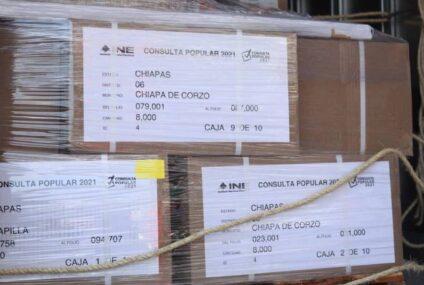 Se instalarán 2 mil 290 mesas en Chiapas para la consulta del 01 de agosto