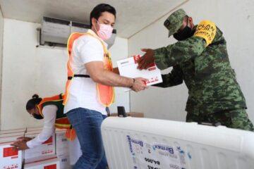 Llegan vacunas Pfizer a Chiapas para segunda dosis