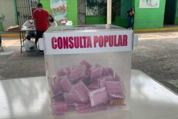 Resultados preliminares de la consulta popular en México