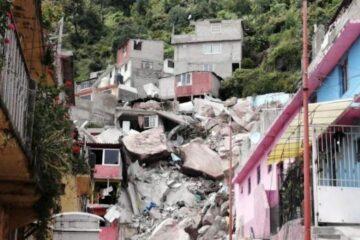 Desalojadas, el 50% de familias «en riesgo» por posible derrumbe en el Cerro del Chiquihuite
