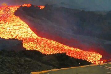 Continúan las efusiones de lava en La Palma, con picos de gran velocidad